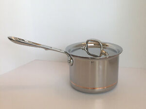 ALL-CLAD 6202 SS Copper Core 5-ply Bonded Stainless Steel 2-qt Saucepan w/ Lid