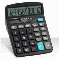 Digit Calculator Desktop Jumbo Large Buttons AA* Solar Power Powered Battery