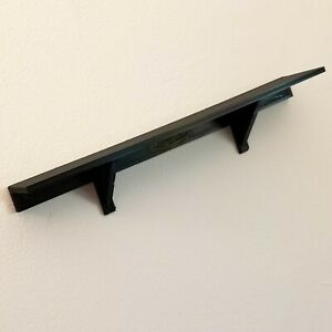 "12"" x 2"" Black Wall Shelf Uses 3M Command Strips are Removable & Easy to Install"