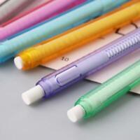 Creative Press Pen Shaped Eraser Writing Drawing Pencil Erase Student