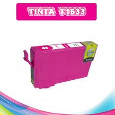 TINTA MAGENTA T1633 T16XL COMPATIBLE IMPRESORAS NONOEM EPSON CARTUCHO ROSA