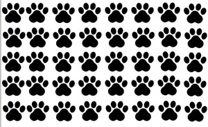 Paw Print Cat Dog Vinyl Decal Stickers CHOOSE 2.5cm or 5cm Craft Car Glass Deco