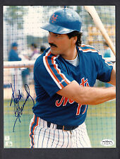 Keith Hernandez Autograph New York Mets 8x10 Color Batting Cage Photo JSA