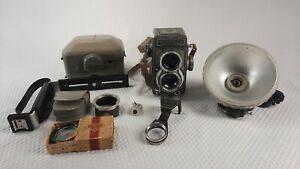Rolleiflex DBP DBGM TLR Baby Camera Schneider Kreuznach Xenar Lens Untested
