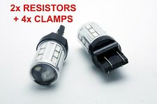 2x LED BULBS T20 WY21W + 2x RESISTORS AMBER INDICATORS TURN SIGNAL CANBUS  MAZDA
