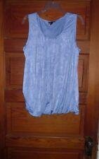 Fashion Bug Ruffled Layered Top Size XL Light Blue