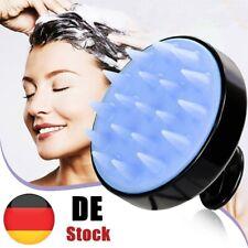 Kopfhautbürste Shampoo Massage Kamm Duschkopf Haarwasch Massagegerät Schwarz
