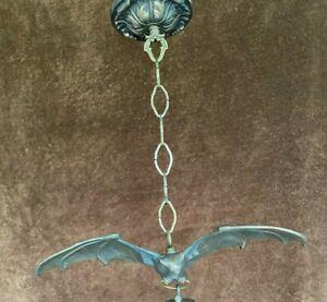 FABULOUS! #102 STANDARD Artist-made BRONZE GOTHIC BAT Chandelier Without Globe