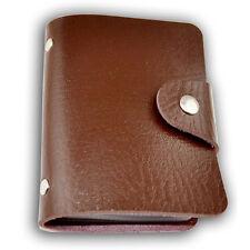 Fashion Mini PU Leather 24 ID Card Credit Holder Pocket Wallet Case Purse  ho