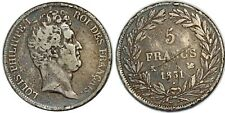 LOUIS PHILIPPE I 5 FRANCS 1831 K BORDEAUX F.315