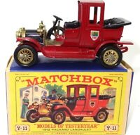 LESNEY MATCHBOX Y-11 1912 PACKARD LANDAULET - MINT BOXED