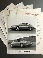 1990 Porsche 911 Carrera 2 PCNA issued Press Release RARE!! Awesome L@@K