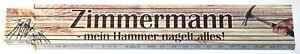 Zimmermann - mein Hammer nagelt alles ! Zollstock Meterstab Buchenholz 2 m Z065