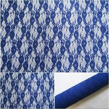 Royal Blue 4 Way Stretch Polyester Spandex Lace Fabric 152cm 59""