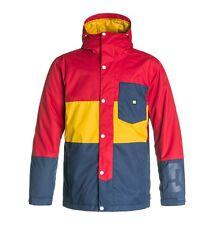 New DC Mens Defy Insulated Snowboard Jacket Medium Tango Red