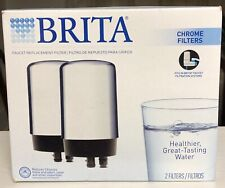 Brita Tap Water Filter, Filtration System Replacement 2ct, Chrome