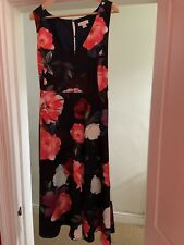 MONSOON - Ladies Blue Red and CreamFloral Dress - Size 22 - WORN ONCE - STUNNING