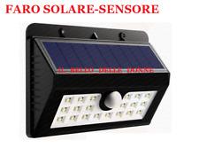 Lampada Solare Esterno Giardino Faretto rettangolare Sensore Luce 20 LED Faro