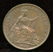 1826 Great Britain Farthing First Issue