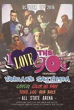 I LOVE THE 90'S 2016 CHICAGO CONCERT POSTER: Vanilla Ice, Salt N Pepa, Coolio