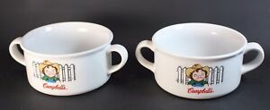 Campbell's Soup Bowl with two handles Vintage 2001 Set of 2