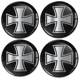 4 x 60mm 3D Gel Stickers Decals Wheel Center Hub Rims Caps Tuning Logo Emblem