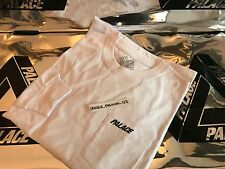 PALACE SKATEBOARDS FW16 MEDIUM WHITE POCKET LONGSLEEVE TEE T-SHIRT LS CLASSIC