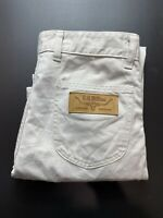 Vintage RM Williams Mens Denim Jeans Size 32 x 34 White Longhorn Made in Aus