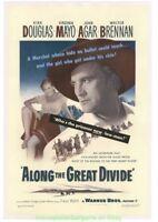 ALONG THE GREAT DIVIDE MOVIE POSTER Linenbacked 27x41 Original 1951 KIRK DOUGLAS