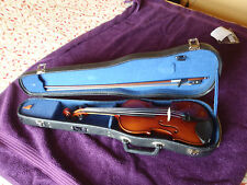 Three quarter size violin by Watson with bow, case and chin rest.