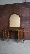 Antique Vanity / Vintage Vanity / Vanity w/Mirror / Antique Desk