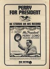 1962 RCA Victor PRINT AD Records features Perry Como for President Great Vintage