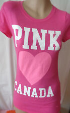 t shirt pink loves canada by victoria's secret pink crew neck pink small