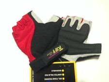 NEW Cycling Gloves Half Finger Nylon Gel AMARA Size M Red/Black