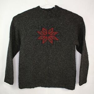 Timberland Men's Vintage Hand Knit Wool Pullover Sweater Size XL Snowflake RARE