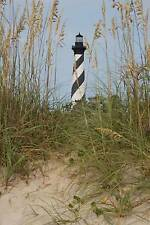 Black and White Lighthouse and Sea Oats Journal: 150 Page Lined Notebook/Diary