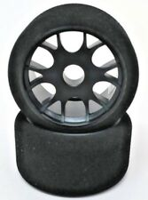 GQ RC 1/12th Scale Front Foam Tires and Wheels Cream Compound 30SH Jaco CRC TRC