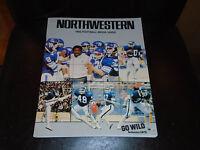 1983 NORTHWESTERN COLLEGE FOOTBALL MEDIA GUIDE NEAR MINT BOX 2
