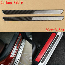 100%Carbon Fiber Car Scuff Plate Door Sill Cover Panel Step Protector Guard 60CM