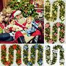 2.7m/9ft Christmas Garland Wreath Fireplace Decorations Green Mantel Tree Pine