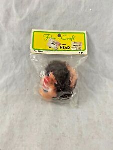 Vintage - Fibre Craft - CLOWN - Doll Head - Bald - Unopened