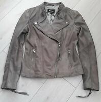 Tigha Damen Biker Lederjacke Tibelia  Grau Sheep Leather  Gr. S UVP: 299,90€
