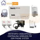KIT ALLARME ANTIFURTO CASA UFFICIO CENTRALINA WIRELESS GSM PIR PHONE SYSTEM