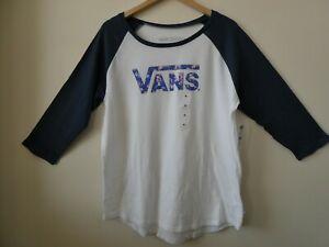 NEW VANS G PRAIRIE BLUR Flying V Women's 3/4 Sleeve T-Shirt