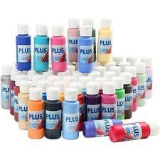 12 PLUS Acrylic Craft Paint, 60 ml Bottles, Water-Based, Matte