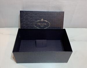"""AUTHENTIC LARGE PRADA MILANO EMPTY BOX 13.5"""" x 8"""" x 5"""" + Extras!"""