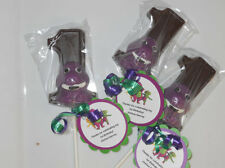 12 Barney 1st Birthday Party Favors Gourmet chocolate Lollipops