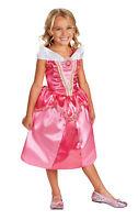 DISNEY PRINCESS AURORA SPARKLE CHILD CLASSIC COSTUME Pink Theme Party Halloween
