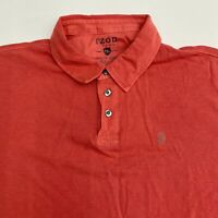Izod Jeans Polo Shirt Men's Size 2XL XXL Short Sleeve Red Rockwashed 100% Cotton