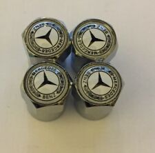 Mercedes Chrome Air Valve Dust Caps Car Wheel Tyre Caps 4 x pcs